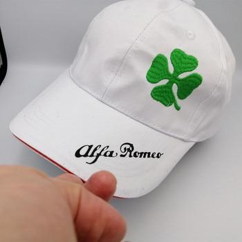 10pcs for Alfa Romeo Sportiva Quatrefoil Green Hat Car Sline Logo Moto Racing Baseball Cap Adjustable Casual Hat 156 giulietta
