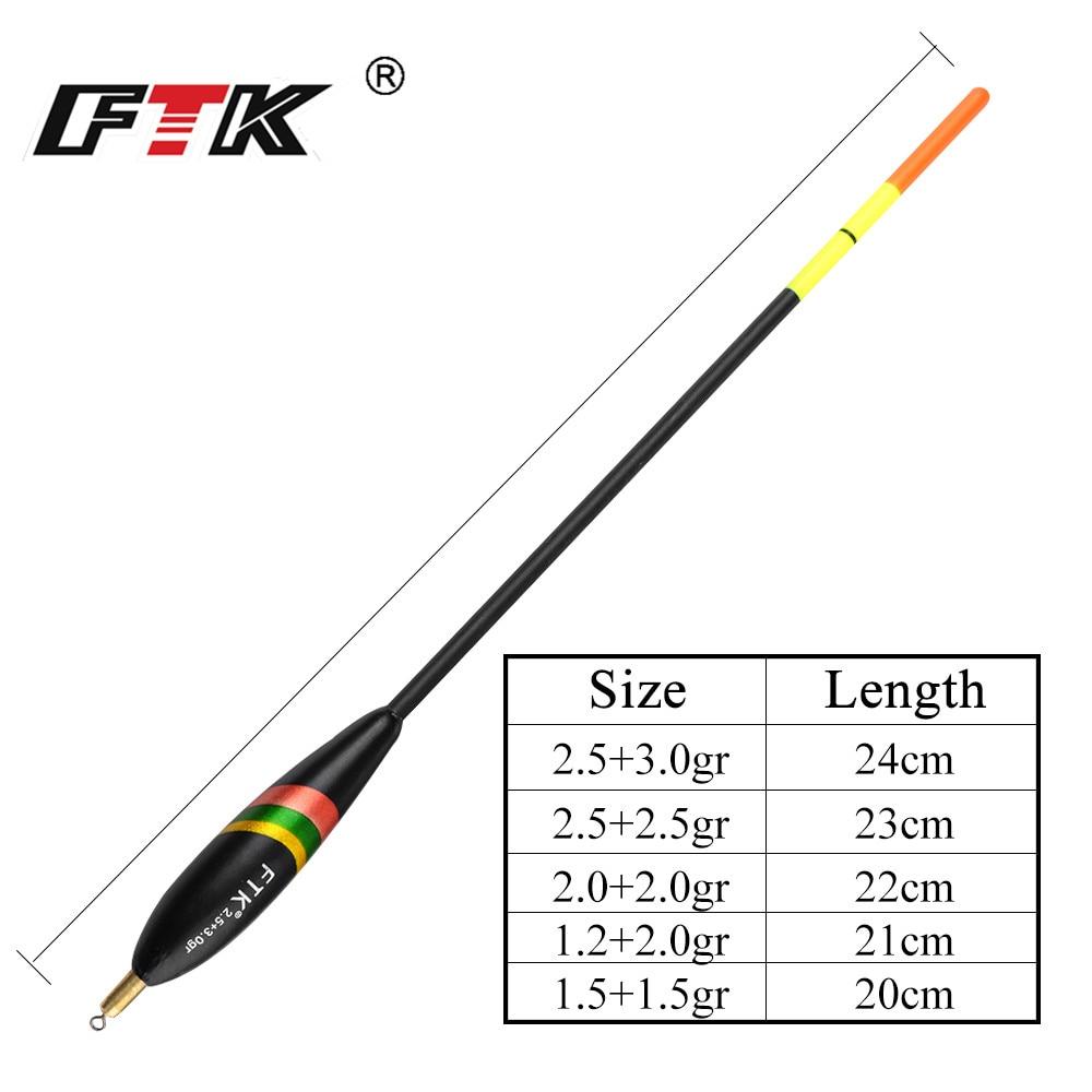 FTK 5 teile/los Barguzinsky Fir Float 1,5 + 1.5gr 1,2 + 2.0gr 2,0 + 2.0gr 2,5 + 2.5gr 2,5 + 3.0gr Bobber Vertikale Boje peche accesoires
