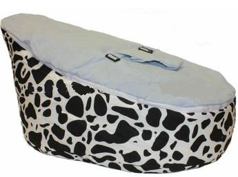 Free Shipping Disco Convertible  Baby Beanbag Chair, Two Tops Baby Beanbags Cover Only Cow Blue
