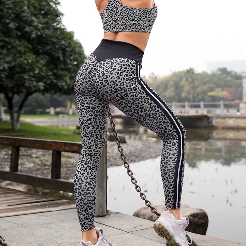 Sexy Leopard Print High Waist Leggings Hip Push Up Stretch Sport Pants Compression Running Jogging Sport Leggings 2019 A30