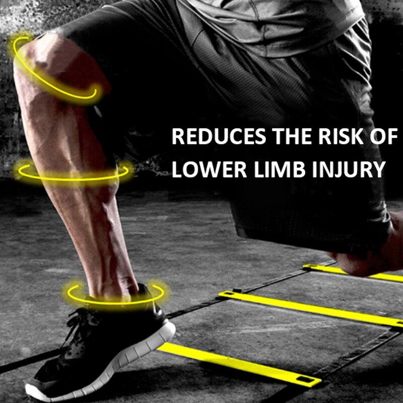 Équipement de Fitness section mince échelle agile en nylon entraînement échelle souple escabeau pour renforcer le système
