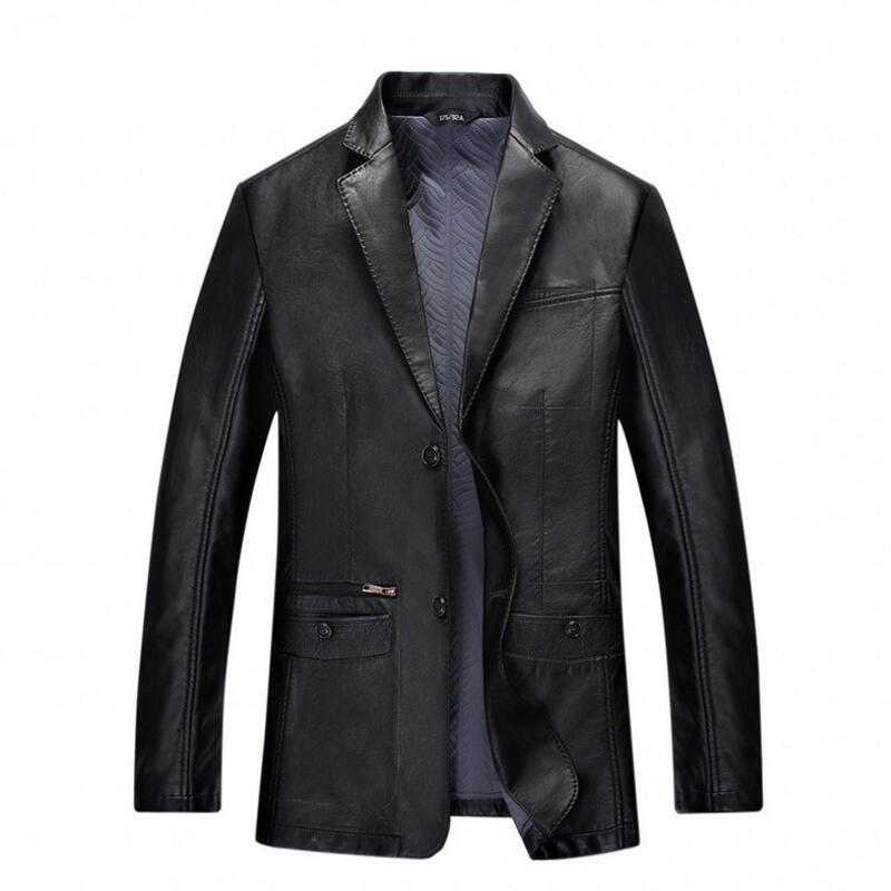Veste en cuir rouge pour hommes veste en cuir pour hommes mode loisirs grande taille veste en cuir noir pour hommes veste d'hiver pour hommes Parka