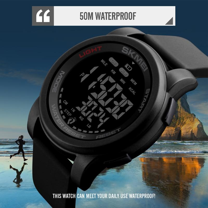 Brand Men Watch Luxury Calorie Pedometer Sport Wristwatch Waterproof Luminous Electronic Bracelet Men's Military Watches SKMEI