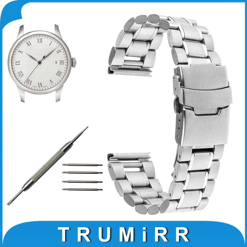 16mm 18mm 20mm 22mm 24mm Stainless Steel Watch Band for Tissot T035 T050 PRC 200 T055 T097 T099 Safety Clasp Strap Link Bracelet