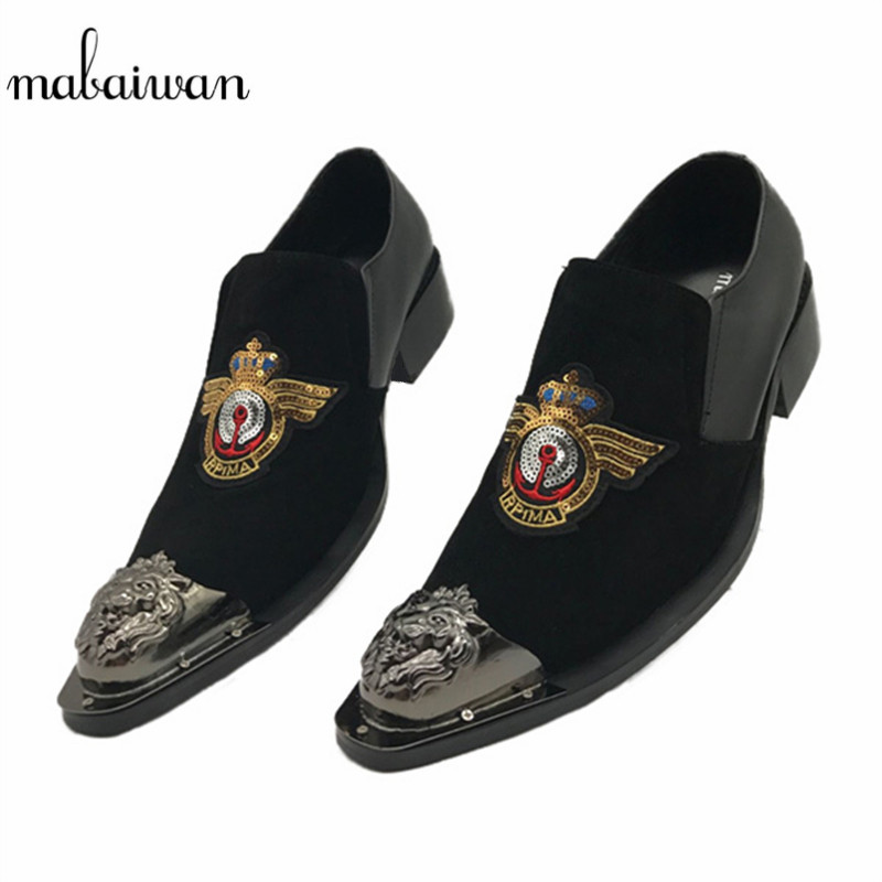 Mabaiwan Fashion Black Men Shoes Slip On Flats Wedding Dress Shoes Mens Office Oxfords Espadrilles Zapatos Hombre Ankle Boots