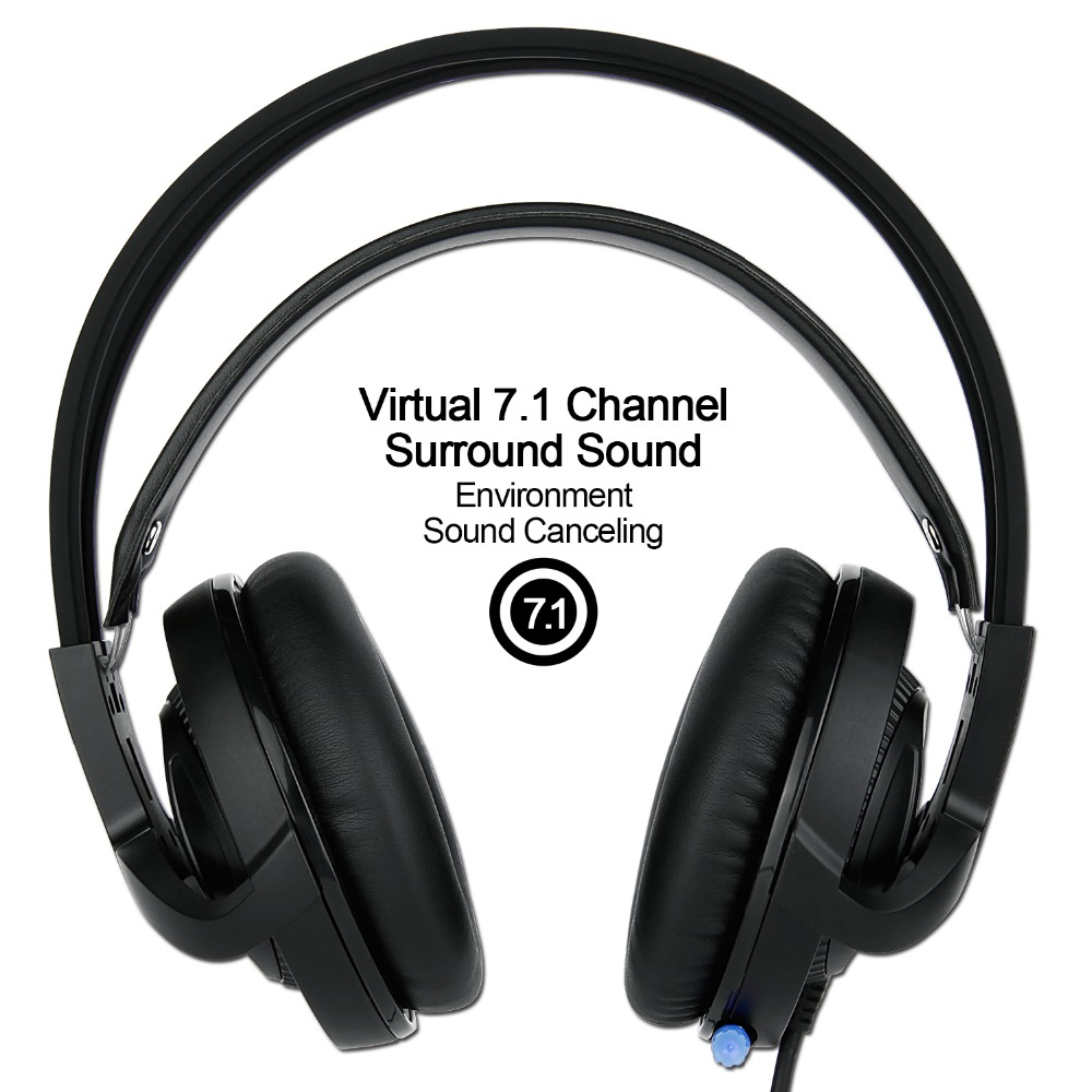 Original Sades R2 7.1 Channel Gaming Headset Stereo Headphones Earphones with Mic Breathing Led Lights USB Plug for PC Gamer