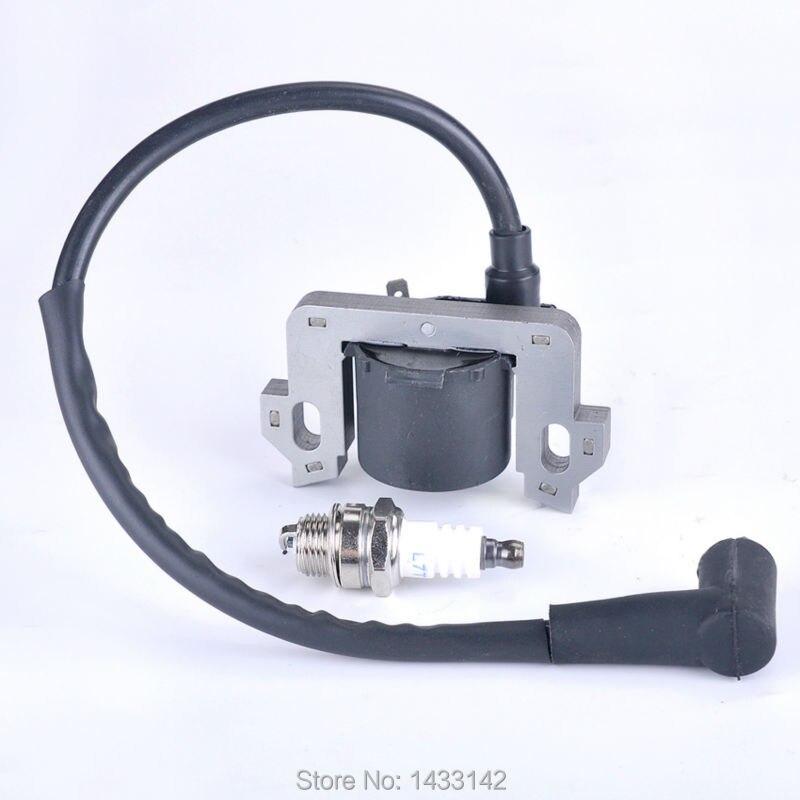 Ignition Coil Spark Plug For Honda GCV135 GCV160 HRR216 HS520 Generator EN2500 Bobine Snowblower Lawn mowers #30500-ZL8-004