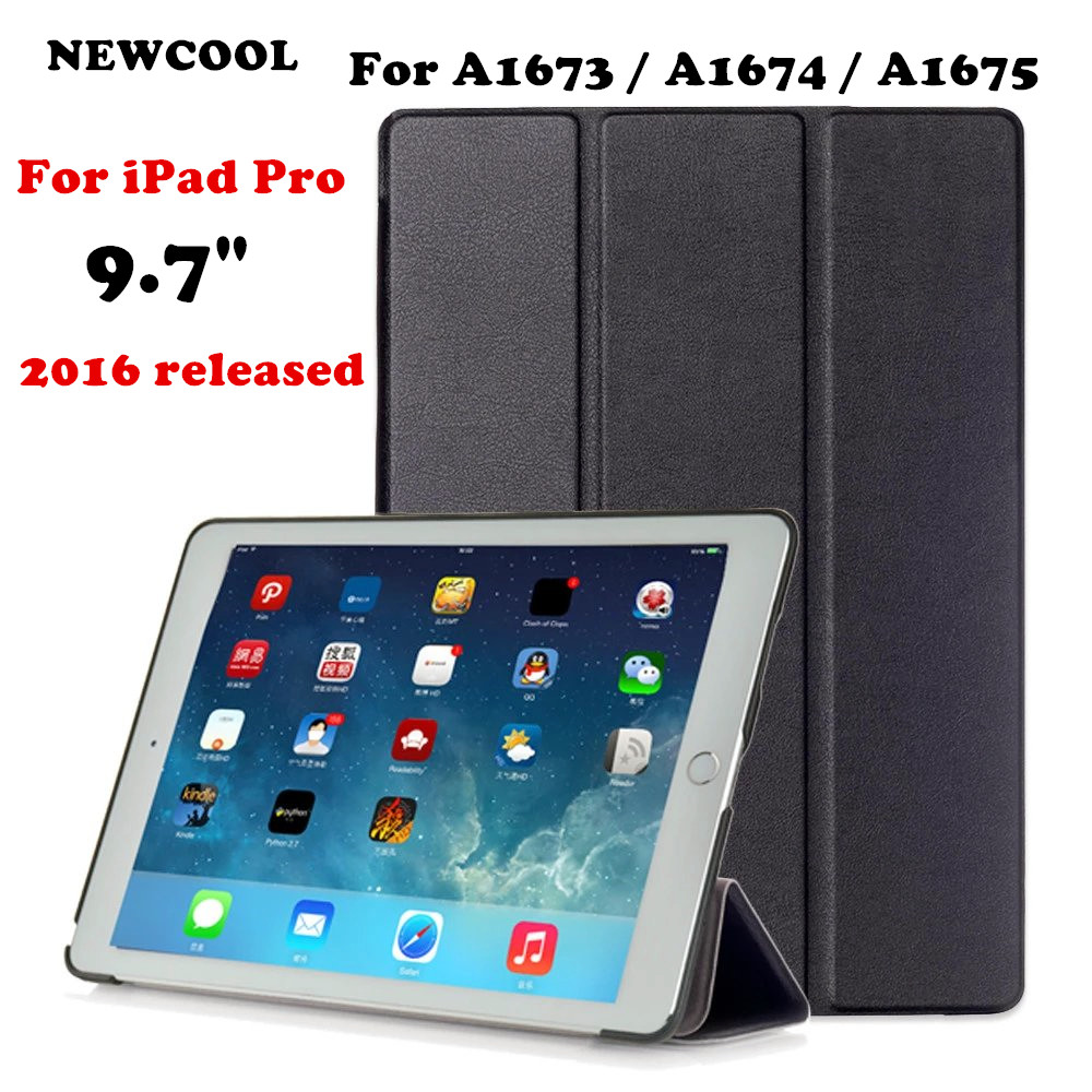 Case for iPad Pro 9.7 inch, NC Smart Cover with Trifold Stand Magnetic Auto Wake Tablet Case for iPad Pro 9.7 inch 2016 Release