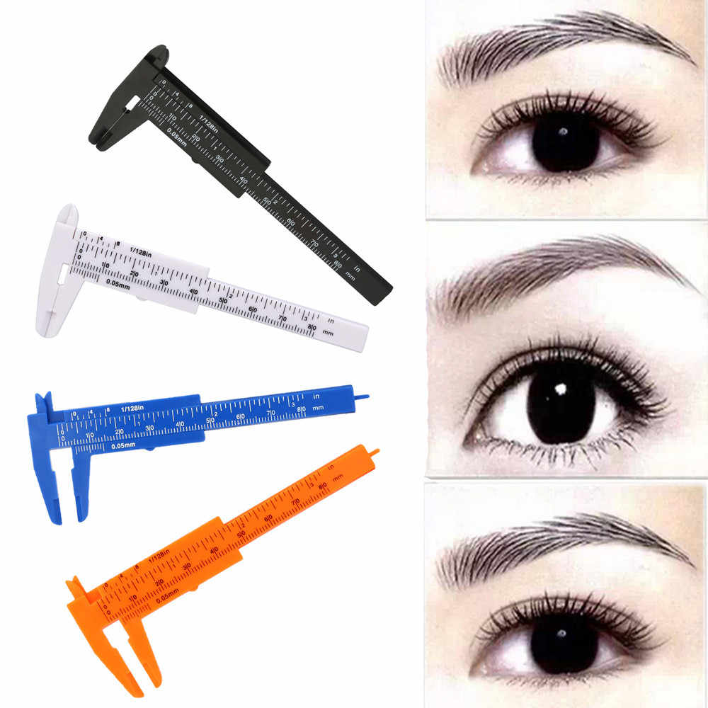 New 1PC Microblading Reusable Makeup Measure fashion Eyebrow Guide Ruler Permanent Tools 2018