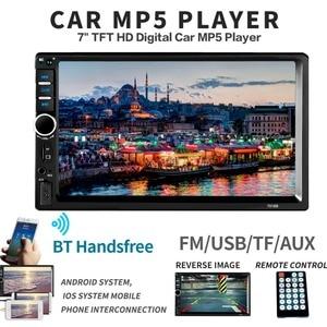 """Image 3 - 2 Din カーステレオ 7 """"HD ラジオ Bluetooth FM オーディオ MP5 プレーヤー 2din Autoradio サポートリアビューカメラ 7018B"""