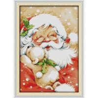 Wieczna miłość święty mikołaj (2) ekologiczna bawełna chiński cross zestaw do szycia liczone wybity 14CT 11CT nowy rok promocja sprzedaży