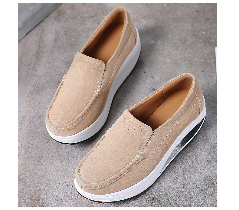 Dobeyping Nova Primavera Outono Shoes Deslizamento Em