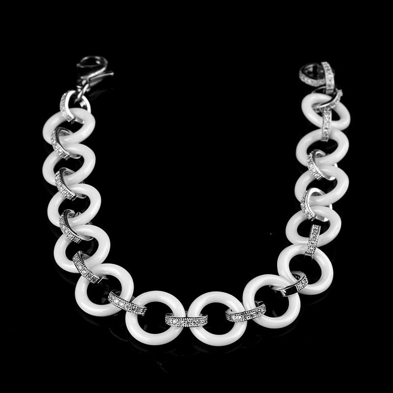 2017 Νέο γυναικείο βραχιόλι Λευκό Bling - Κοσμήματα μόδας - Φωτογραφία 3