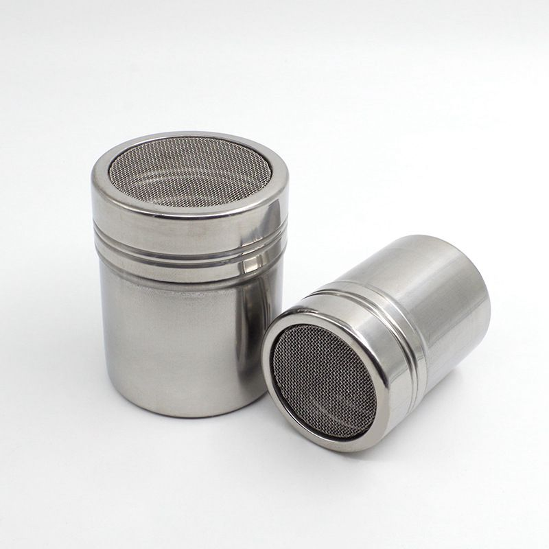 Chocolate Shaker Cocoa Flour Icing Sugar Powder Coffee Sifter Filter Coffee Accessories Barbecue Cooking Tool Stainless Steel