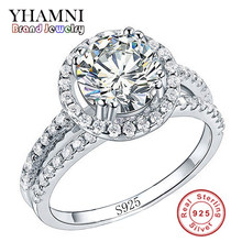 Big Sale Fashion Jewelry Ring Have S925 Stamp Real 925 Sterling Silver Ring Set 2 Carat CZ Diamant Wedding Rings for Women R510(China)