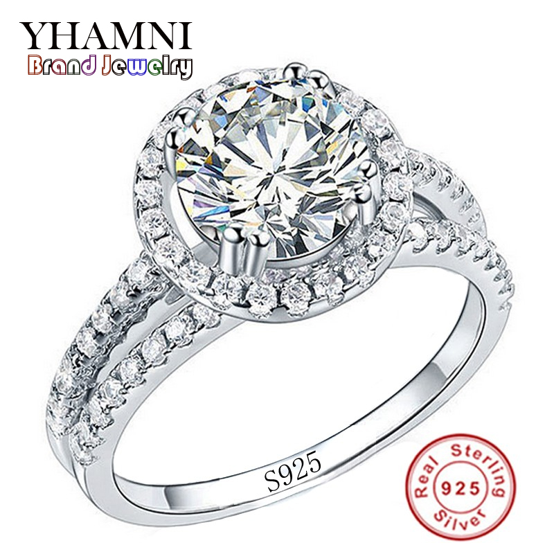 big sale fashion jewelry ring have s925 stamp real 925 sterling silver ring set 2 carat cz diamant wedding rings for women r510 - Wedding Rings On Sale