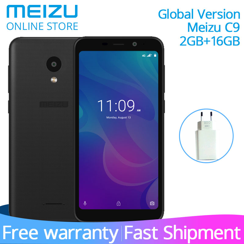 Official Global Version Meizu C9 2GB 16GB Mobile Phone Quad Core 5.45 Inch 1440X720P Front 8MP Rear 13MP Camera 3000mAh Battery