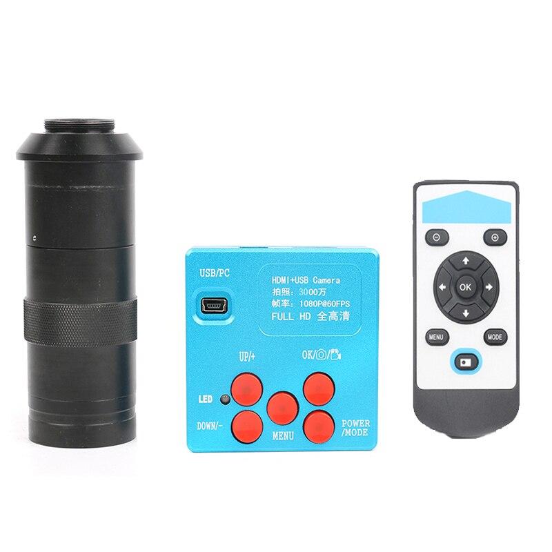 2019 30MP 2K1080P HDMI Digital Video Microscope Camera  8X -130X C-Mount lens for Phone CPU PCB Soldering Repair