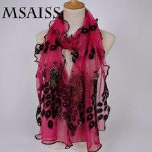 MSAISS 190*40 см великолепный кружевной шарф Роскошные женские брендовые шарфы женская шаль высокого качества с принтом хиджаб шарф