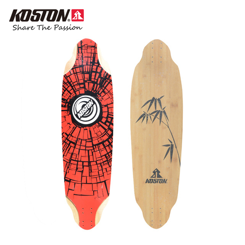 KOSTON Professional Longboard Decks Downhill Racing Skateboard Decks Long Skateboard 36.7 Inch Bamboo And Canadian Maple Mixed koston lb202 downhill and freeride style complete longboard