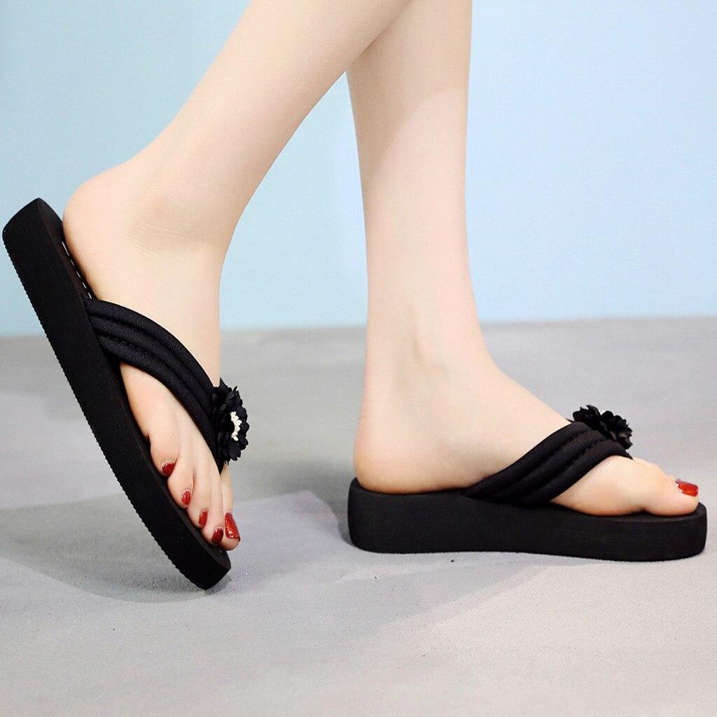 Women Summer Bohemian Clip Toe Flip Flops Non-Slip Wedges Slippers Beach ShoesWomen Summer Bohemian Clip Toe Flip Flops Non-Slip Wedges Slippers Beach Shoes