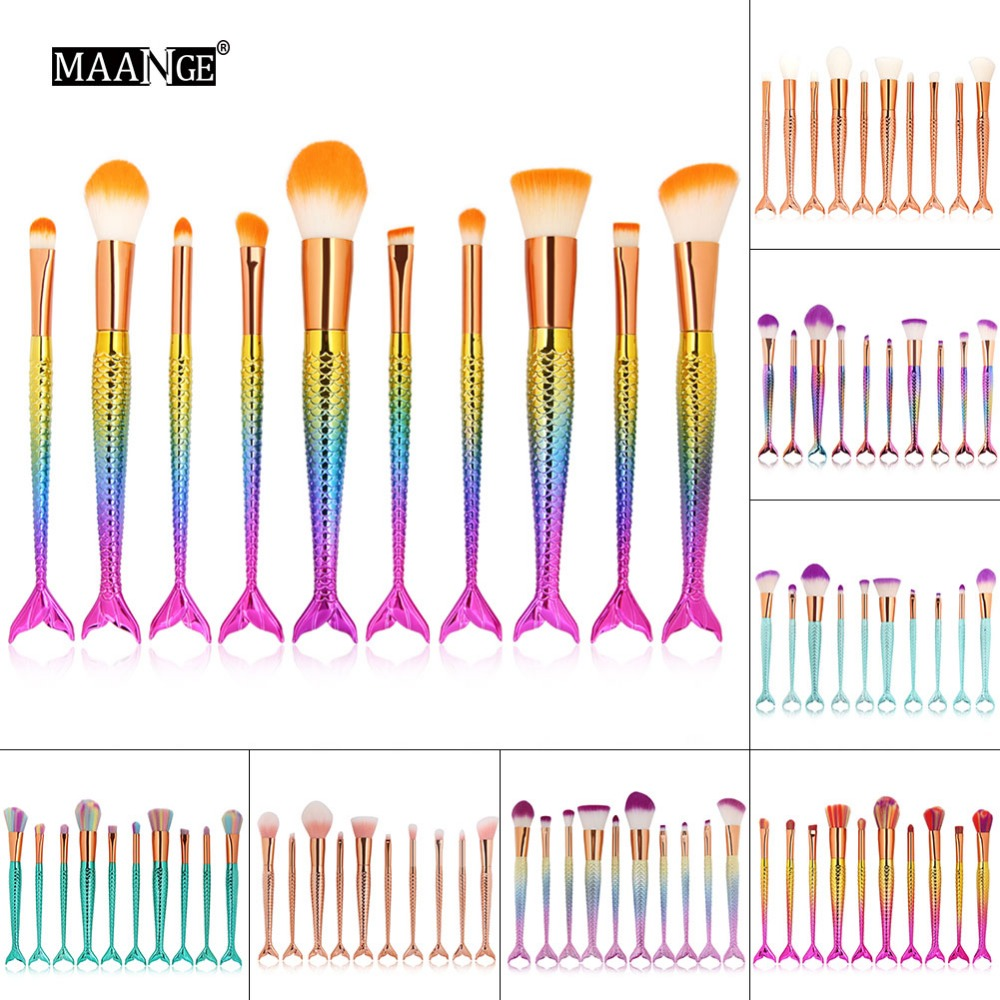 Fashion 6/10Pcs Makeup Brush Foundation Liquid Powder Eyeshadow Eyeliner Lip Concealer Blending Brush Beauty Cosmetics Tool kits free shipping 3 pp eyeliner liquid empty pipe pointed thin liquid eyeliner colour makeup tools lfrosted purple