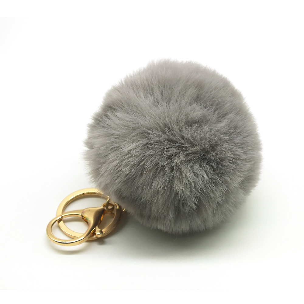 Pompom keychain Baby Doll Keychain Pompom fake Rabbit Fur Ball Key Chain Car Keyring cute hairy key Holder Bag pompom Pendant cute fox bobbles fur ball rhinestone keychain bag car ring keyring