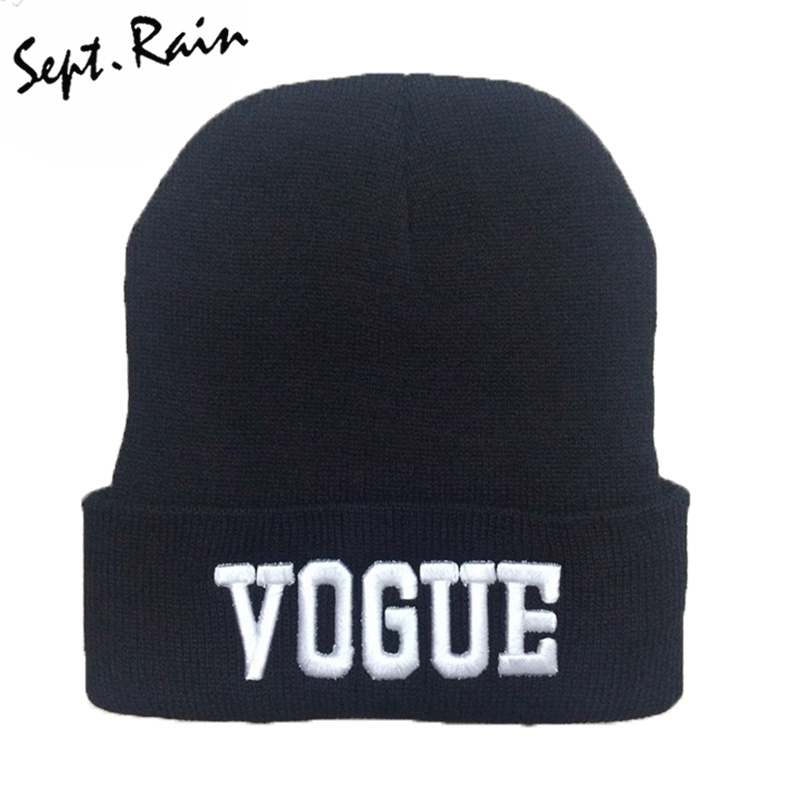 Fashion Cuffs Winter Beanie Hip-Hop Hat Gorro VOGUE Beanies Cap Women Knitted Wool Cap Winter Mens Skully Hats M0279