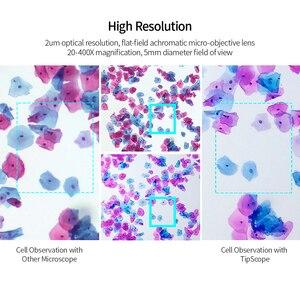 Image 2 - Tinscope 20X 400X 현미경 ios에 대 한 안 드 로이드에 대 한 보편적 인 휴대용 휴대 전화 현미경 돋보기 확대 렌즈