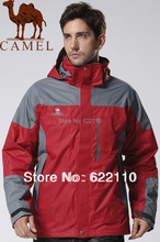 CAMEL Men's Watertight Jacket ;The Three-in-one jacket waterproof ;skiing warm breathable jacket;outdoor clothes2F01203