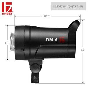 Image 4 - JINBEI DM 4 400Ws Flash de estudio portátil Luz de fotografía compacta GN66 cabeza de iluminación incorporado inalámbrico Bowens montaje