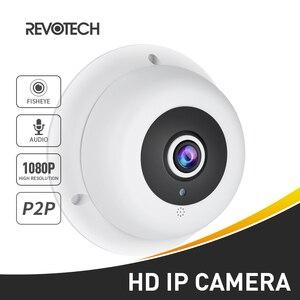 Image 1 - オーディオ魚眼レンズ FHD 1920 × 1080 1080P 2.0MP 3 アレイ Led ナイトビジョンパノラマ IP カメラセキュリティ ONVIF P2P IP CCTV カムシステム