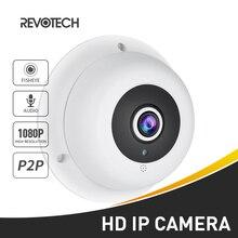 오디오 fisheye fhd 1920x1080 p 2.0mp 3 배열 led 나이트 비전 파노라마 ip 카메라 보안 onvif p2p ip cctv 캠 시스템
