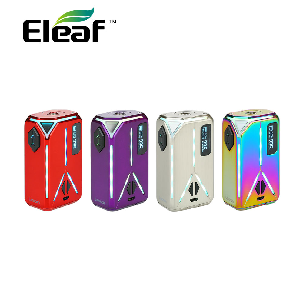 Eleaf Lexicon 235W TC MOD Soppurt Stealth Mode & Preheat Function w/ Sparkling Light Effects for ELLO Duro Tank vs IStick Pico original eleaf lexicon tc box mod 235w output preheat function w sparkling light effect for ello duro tank e cigarette vape mod