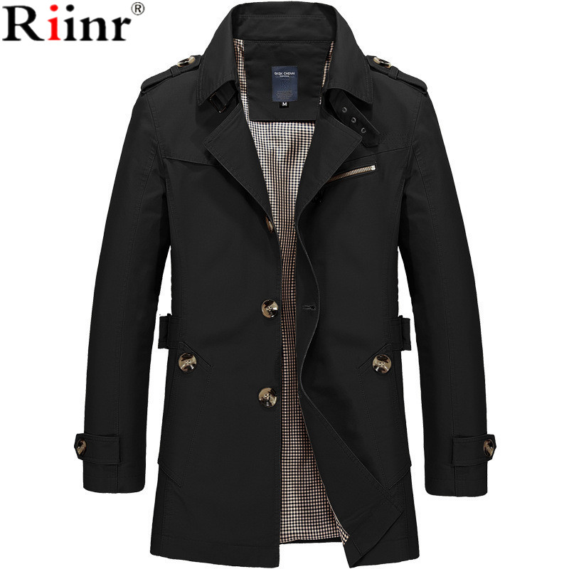 Riinr 2019 Brand New Arrival Male Jacket Casual Jackets Coat Men Casual Fit Overcoat Jacket Outerwear Coats Plus Size M 5XL