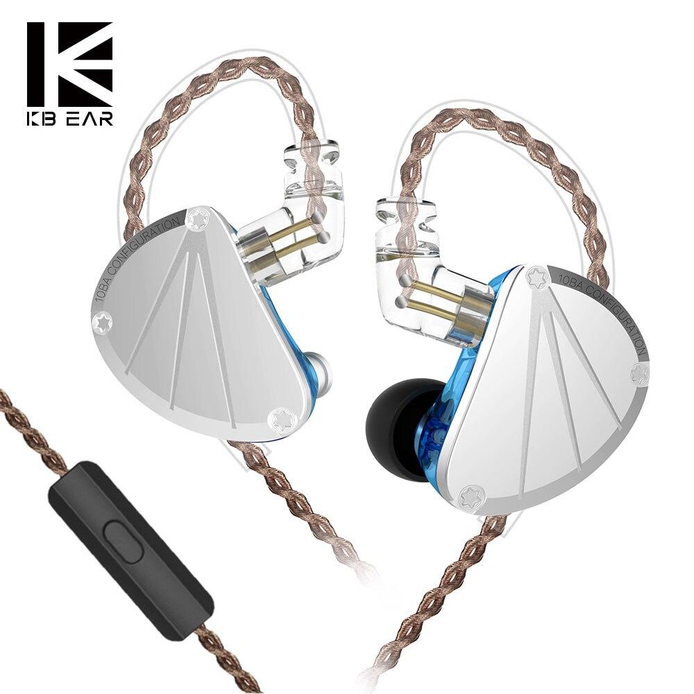 KBEAR KB10 5 Armature équilibrée HIFI course Sport musique Audio moniteur dans l'oreille casque écouteurs KZ ZS10 AS10 AS16