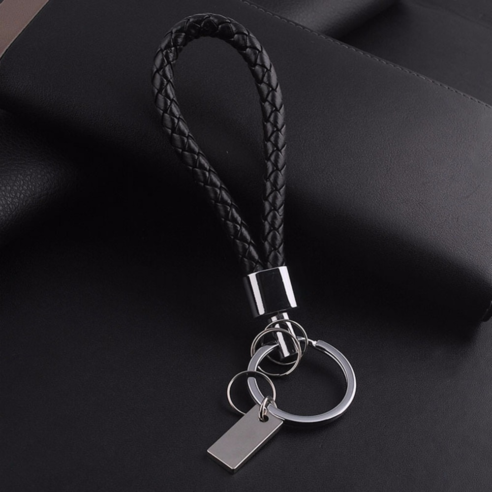 bracelet key holder s leather keychain keyring with stainless steel 5717