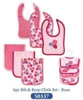 6 Pieces LotTop Quality 2014 Christmas Bebes Newborn Baby Bibs Rose Styles 5 Pattern Bibs Burp