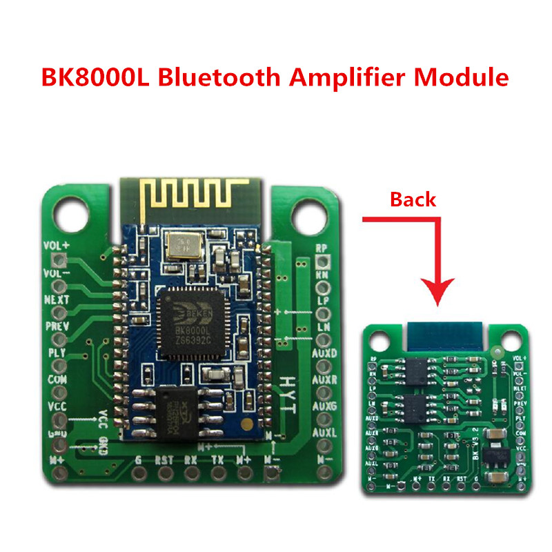 New Dual 5W Bluetooth Amplifier Board Module BK8000L AUX Audio Receiver Bluetooth Stereo Audio Module Speaker Amplifier