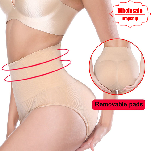 9bba185f3b62e NINGMI Women Big Ass Control Panties Pad Hip Enhancer Mid Waist Trainer  Pulling Underwear Body Shaper