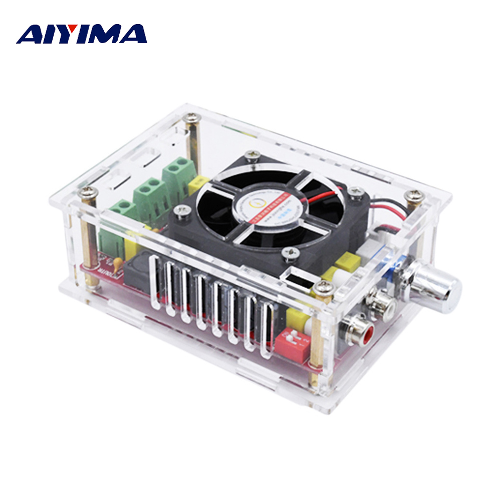 Aiyima TDA7498 Digital Audio Amplifier Board 2*100W High Power Stereo Dual Channel Amplificador With Case DC9-34V Supply DIY tda7297 version b 2x15w amplificatore stereo digital audio amplifier amplificador module board dual channel ampli electro 9 15v