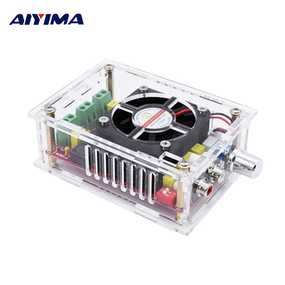 где купить Aiyima TDA7498 Digital Audio Amplifier Board 2*100W High Power Stereo Dual Channel Amplificador With Case DC9-34V Supply DIY по лучшей цене