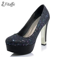 FITAFFE Woman Pumps Sparkle Woman High Heel 11 5cm Shoes Sexy Office Wedding High Heel Pumps