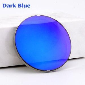 Image 2 - 1.499 CR 39 표준 색인 수지 거울 다채로운 코팅 편광 된 근시 선글라스 처방 광학 렌즈