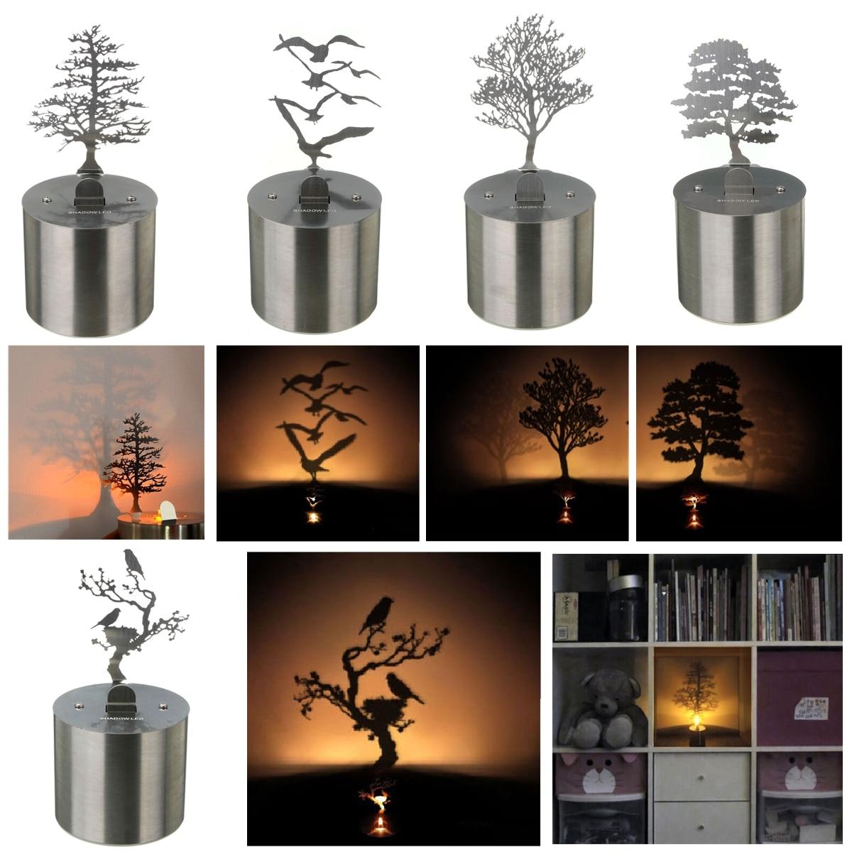 Smuxi 5 Style Shadow LED Projection Lamp Tree Night Light Romantic Atmosphere Mood Laser Novelty Lighting Desktop Home Decor