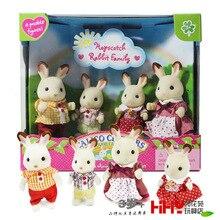 Hopscotch rabbit bunny Family mini size Sylvanian Family original Figures Anime Cartoon figures Toys Child Toys