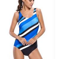 Newest Women One Piece Monokini Skull Print Cut Out Back Design Halter Ruffles Swimwear Plus Size