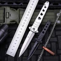 2018 nuevo envío gratis al aire libre fijo táctico de combate plegable cuchillo de autodefensa salvaje supervivencia Camping pequeños cuchillos de caza