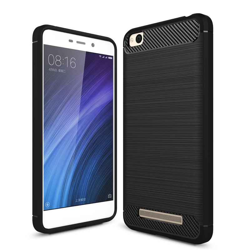 imágenes para 10 Unids/lote, Para Xiaomi Redmi 3 S/4A/4X Caso NOTE3 NOTA4 TPU Cubierta de silicona Suave Cubierta De Fibra De Carbono Para Mi 5/6/5C Caso