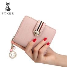 купить FOXER Brand Women Leather Wallets Famous Designer Coin Purse Fashion High Quality Short Wallet For Female по цене 1319.26 рублей